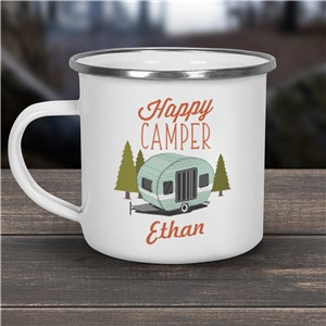 Happy Camper Personalized Camper Mug