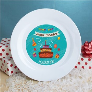 Personalized Happy Birthday Dessert Plate