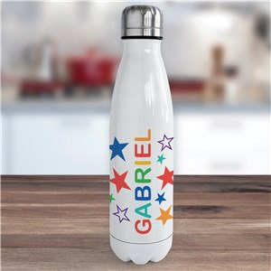 Personalized Name with Stars Water Bottle