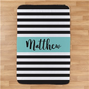 Personalized Baby Stripes Baby Blanket