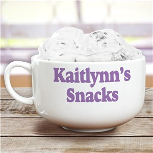 Ceramic Any Message Personalized Cereal Bowl