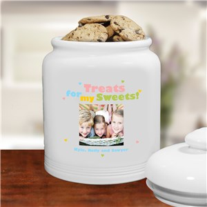 Treats for My Sweets Photo Ceramic Cookie Jar