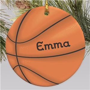 Basketball Personalized Ornament | Ceramic