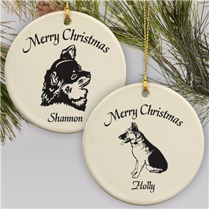 Personalized Dog Breed Holiday Ornament