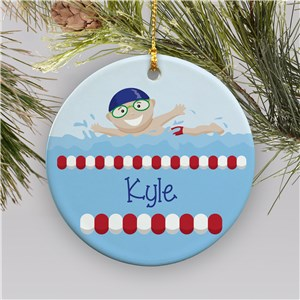 boy swimmer ornamnet