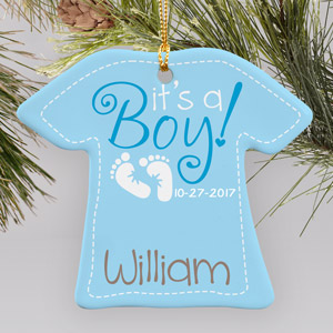 New Baby Boy Ornament