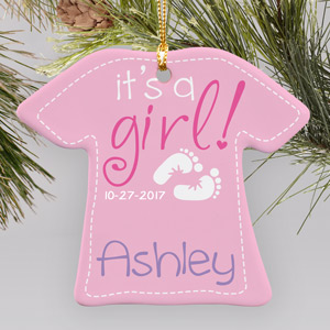 New Baby Girl Ornament