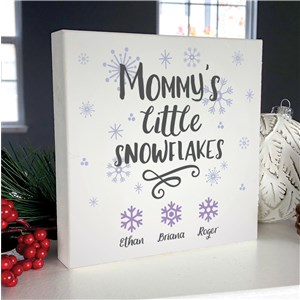 Personalized Mommy's Little Snowflakes 6x6 Table Top Sign