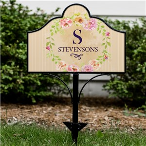 Personalized Floral Spring Magnetic Sign