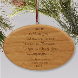 Wooden Personalized Memorial Ornament