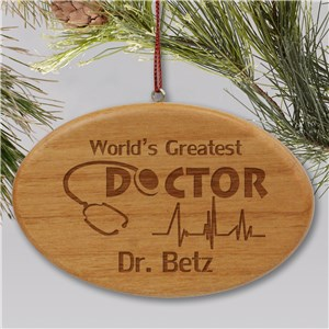 Engraved Doctor Holiday Ornament