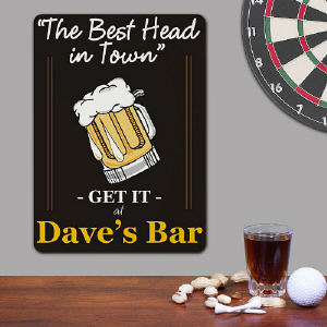 The Best Head In Town Personalized Wall Sign
