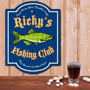 Personalized Fishing Club Sign