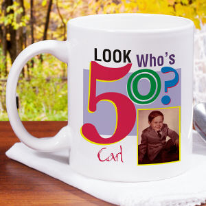 Look Who's ? Birthday Personalized Photo Coffee Mug