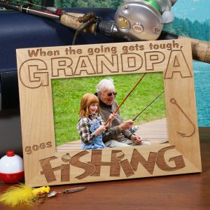 Personalized Goes Fishing Frame