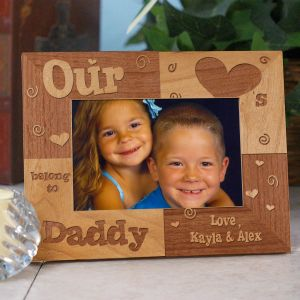 Personalized Our Hearts Belong To Daddy Picture Frame