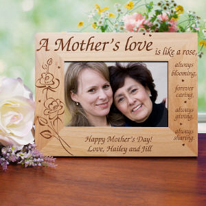 A Mother's Love Engraved Frame