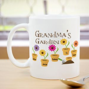 Flower Coffee Mug for Grandma