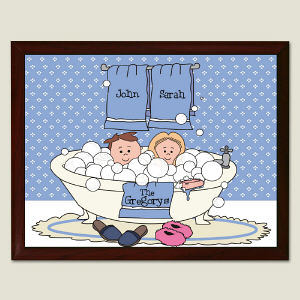 Tub Couple Wall Plaque
